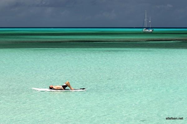 At Cape Santa Maria, Long Beach, Bahamas.